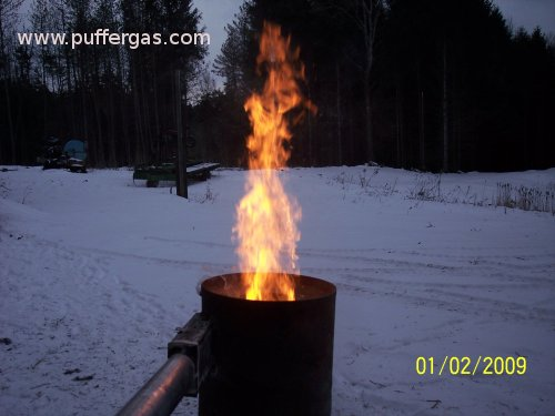 Twister Pic 1: Tall flame, concentric vortex burner.
