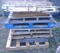 Water Heater Tank - Charcoal Retort: Scrap hardwood pallets.