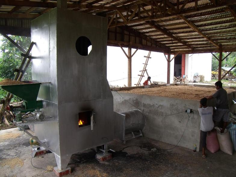 Flatbed Grain Dryer with Biomass Furnace