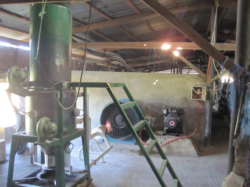 Rice husk Gasifier Coupled to the Flatbed Paddy Dryer