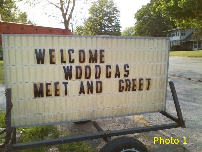 Woodgas Meet and Greet; Argos, Indiana, Welcome