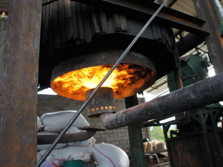 Cashew Gasifier Flame